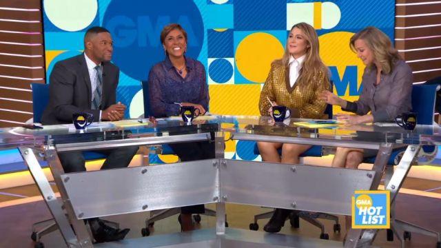 Fendi Vérifier Paillettes Pull porté par Blake Lively sur Good Morning America le 29 janvier 2020