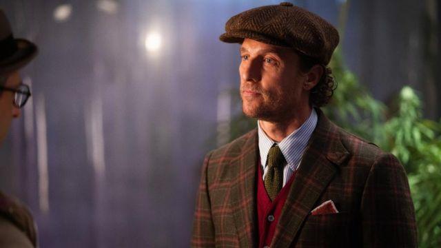 Plaid Blazer Veste portée par Mickey Pearson (Matthew McConaughey) comme on le voit dans L'Messieurs