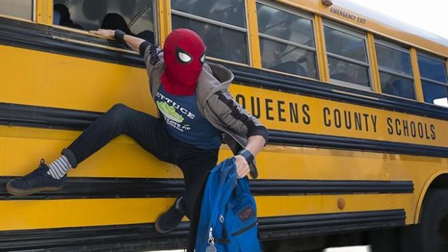 Spider-Man red mask worn by Peter Parker / Spider-Man (Tom Holland) as seen in Avengers: Infinity War