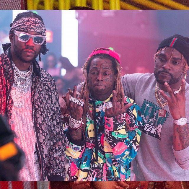 Balenciaga Red Cap of Lil Wayne on the Instagram account @2chainz