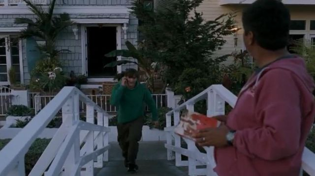 Sweat-shirt vert de Reed Bennett (Ashton Kutcher) dans Valentine's Day