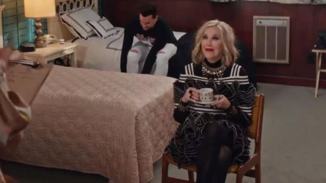 Alexander McQueen Frill Mini Dress worn by Moira Rose (Catherine O'Hara) in Schitt's Creek (S06E05)