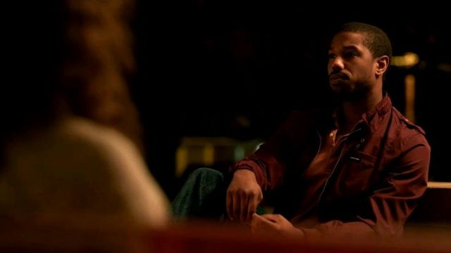 Members Only Classic Zip-Front Jacket in burgundy worn by Bryan Stevenson (Michael B. Jordan) as seen in Just Mercy
