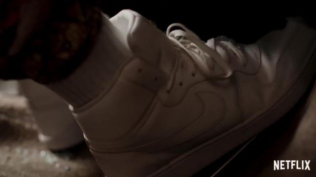 Nike Air Force 1 Hi Top Sneakers In White Worn By Hawk Winston Duke In Spenser Confidential Spotern