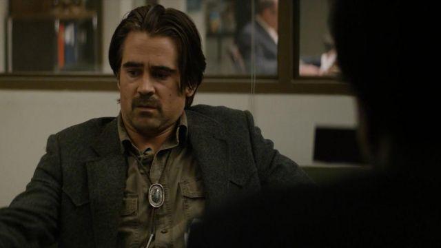 """The collar indian """"bolo tie"""" Ray Velcoro (Colin Farrell) in """" True Detective S02E01"""