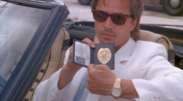 The watch Ebel 1911 BTR James Crockett (Don Johnson) in Two cops in Miami