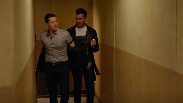 Rick Owens Memphis Leather Trousers of David Rose (Daniel Levy) in Schitt's Creek (S06E06)