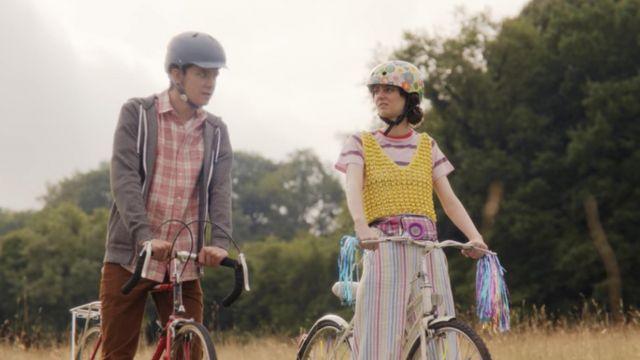 Topshop Beaded Crochet Vest worn by Lily Iglehart (Tanya Reynolds) in Sex Education (S01E08)