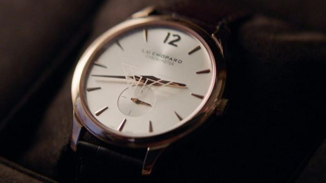 Chopard L.U.C XPS pink gold watch as seen in Charlie's Angels