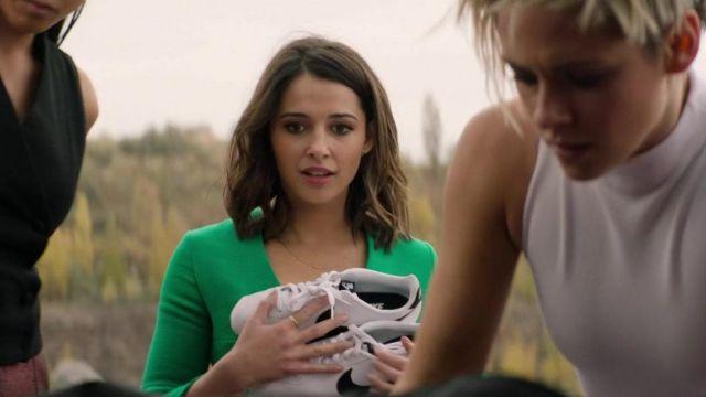 Nike Cortez white sneakers of Elena Houghlin (Naomi Scott) as seen in Charlie's Angels