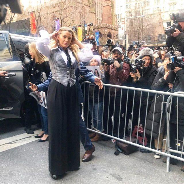 Michael Kors Collection Laine Gilet porté par Blake Lively, Michael Kors Spectacle, à la Fashion Week de New York le 12 février 2020