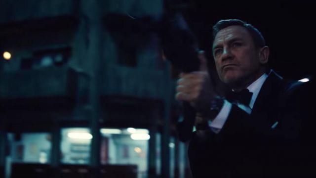 Tuxedo Bow Tie in black worn by James Bond (Daniel Craig) as seen in No Time to Die