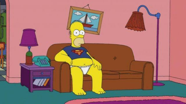 Painting of the boat this dérriere the couch in The Simpsons