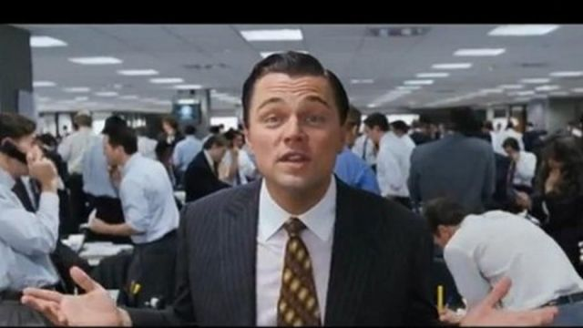 Figurine of Leonardo DiCaprio in The Wolf of Wall Street