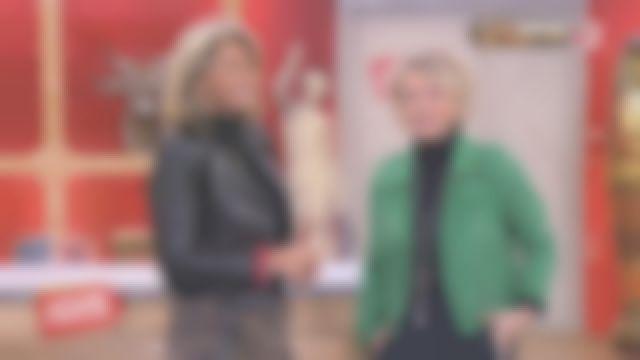 La veste en cuir verte de Sophie Davant dans Affaire conclue