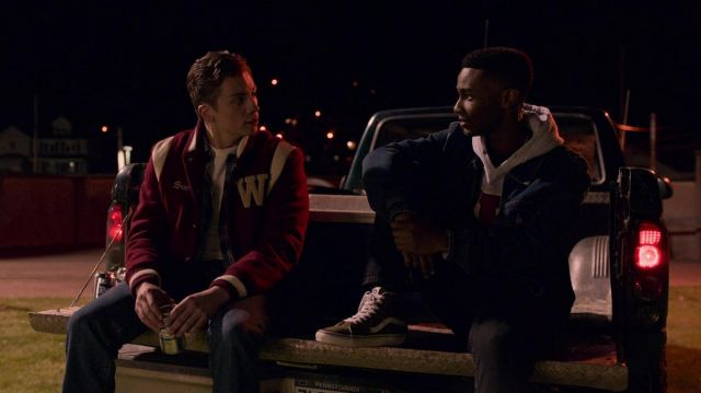 Vans Old Skool Hi Top sneakers in black worn by Ricky Berry (Zachary S. Williams) as seen in I Am Not Okay with This (S01E07)