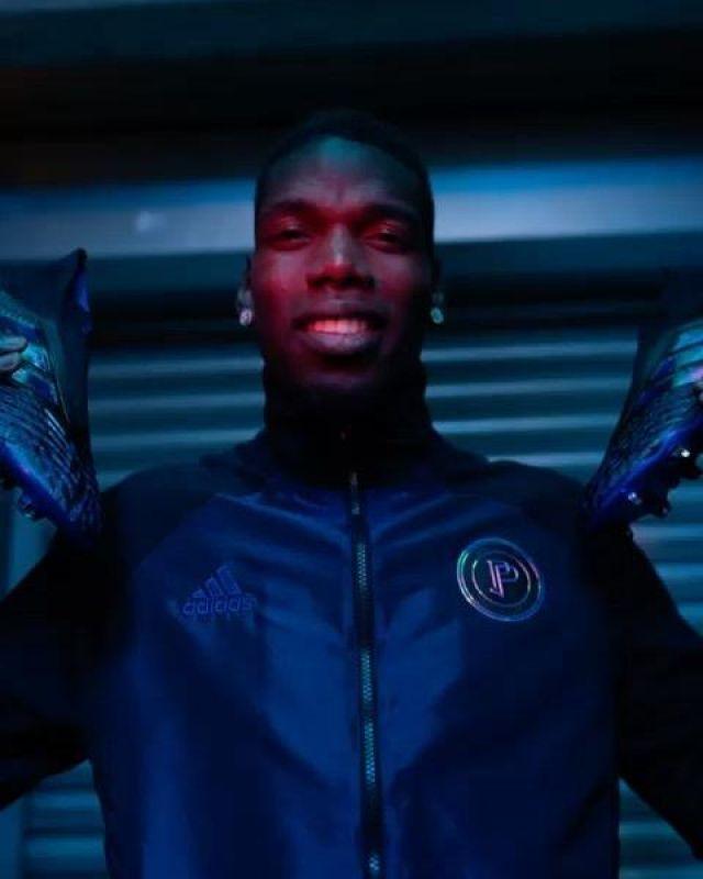 La veste bomber Adidas de Paul Pogba sur son compte