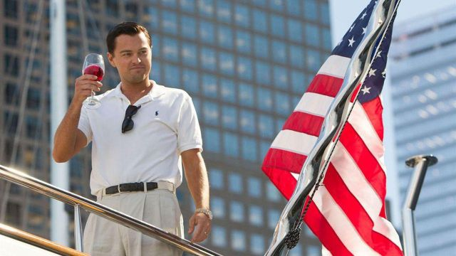Polo shirt fitted pique cotton worn by Jordan Belfort (Leonardo DiCaprio) in the movie The Wolf of Wall Street