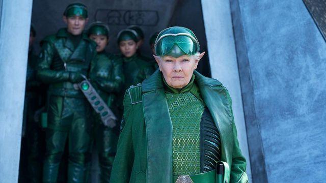 Green costume cosplay worn by Commander Root (Judi Dench) as seen in Artemis Fowl