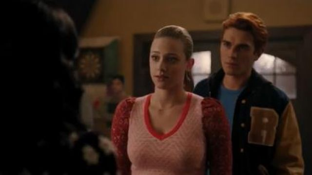 Red Puff Sleeved Sweater worn by Betty Cooper (Lili Reinhart) in Riverdale Season 4 Episode 15