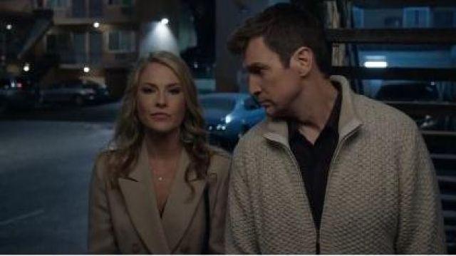 Beige Wrap Coat worn by Dr. Grace Sawyer (Ali Larter) in The Rookie Season 2 Episode 13
