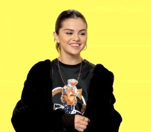 Louis Vuitton Lvxlol Embroidered T shirt Dress worn by Selena Gomez Genius in Interview March 9, 2020