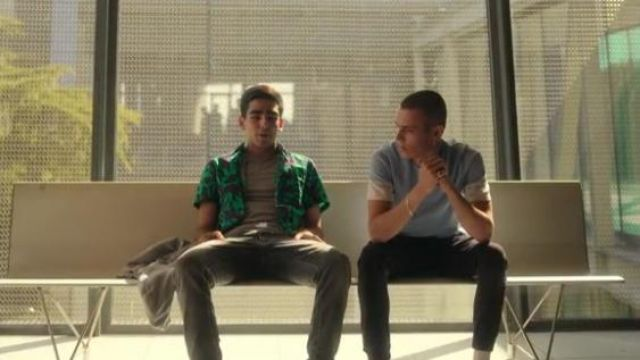 Print Short Sleeve Shirt in Green worn by Omar (Omar Ayuso) in Elite Season 3 Episode 8