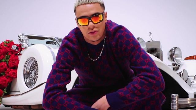 Le pull Gucci porté par Dinor Rdt dans son clip Minimum feat. Naza
