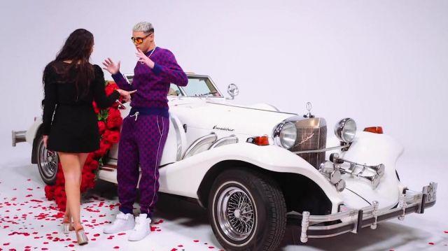 Les sneakers blanches portées par Dinor Rdt dans son clip Minimum feat. Naza