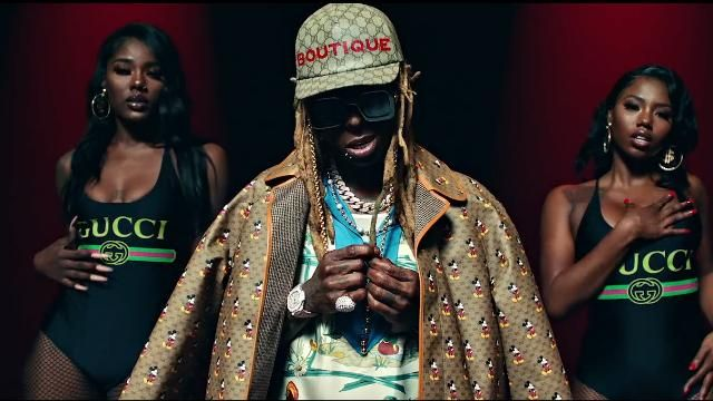Gucci Metal glasses chain worn by Lil Wayne in the music video Lil Wayne - Mama Mia (Official Video)