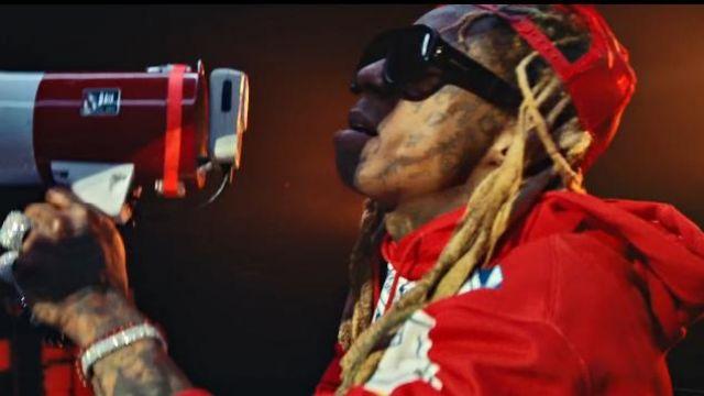 Gucci Eyewear aviator-frame Sunglasses worn by Lil Wayne in the music video Lil Wayne - Mama Mia (Official Video)
