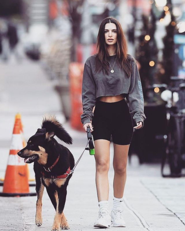Nike Air Max Sneakers worn  by Emily Ratajkowski Walking Her Dog March 20, 2020