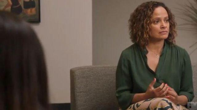 Green Blouse worn by Lala (Judy Reyes) in Better Things Season 4 Episode 3