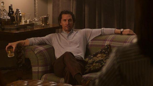 Lacoste Long Sleeve Sweater in Grey worn by Mickey Pearson (Matthew McConaughey) in The Gentlemen