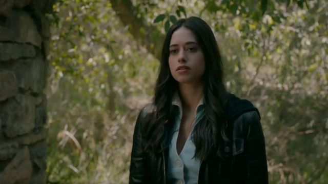 Leather Hooded Jacket worn by Liz Ortecho (Jeanine Mason) in Roswell, New Mexico Season 2 Episode 2