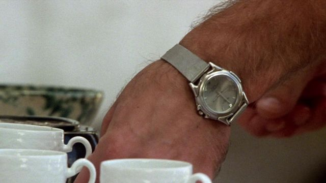 Swanson Stainless Steel Watch worn by Dickie Greenleaf (Jude Law) as seen in The Talented Mr. Ripley