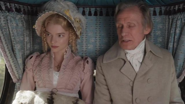 The hat Emma Woodhouse (Anya Taylor-Joy) in Emma.