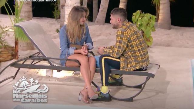 Les sandales nudes et brides transparentes portées par Victoria dans Les Marseillais aux Caraïbes (S01E24)