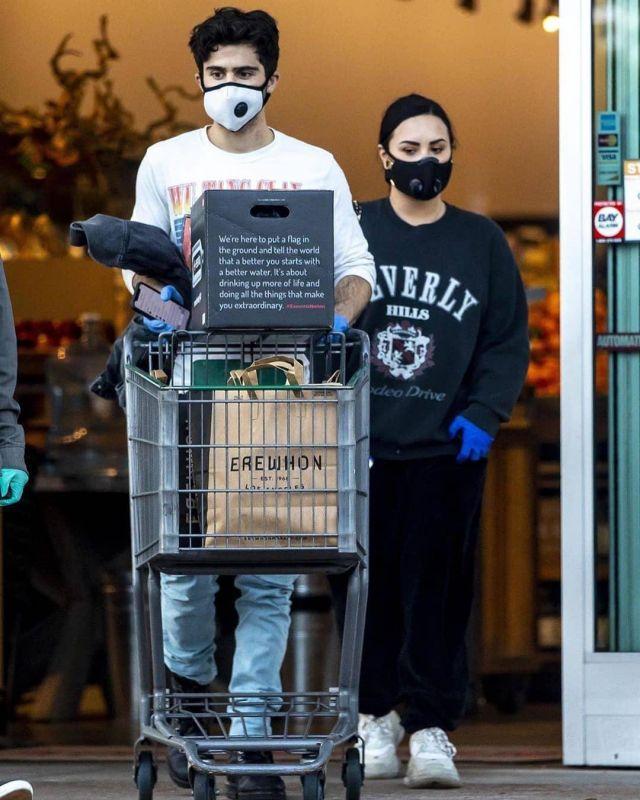 Balenciaga Triple S Clear Sole Sneakers worn by Demi Lovato Erewhon April 4, 2020