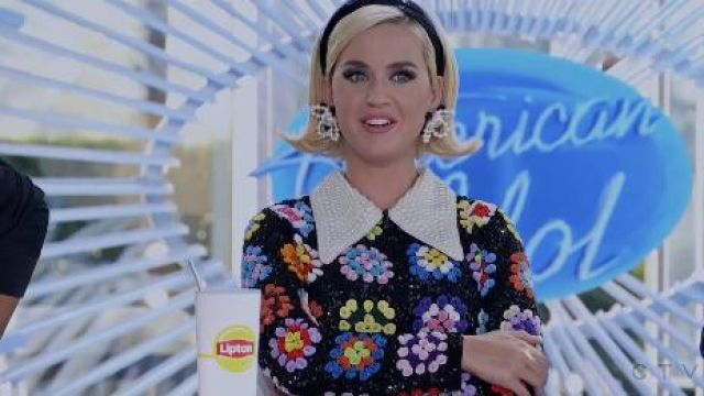 Black Floral Dress worn by Katy Perry (Katy Perry) in The Rookie Season 2 Episode 16