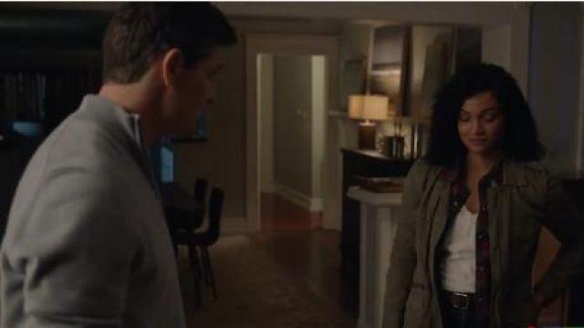 Army Jacket worn by Nyla Harper (Mekia Cox) in The Rookie Season 2 Episode 16