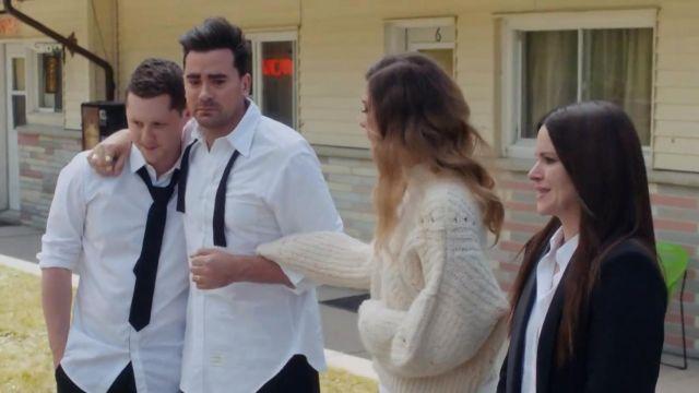 Thom Browne White Oxford Button-Down Shirt worn by David Rose (Daniel Levy) in Schitt's Creek (S06E14)