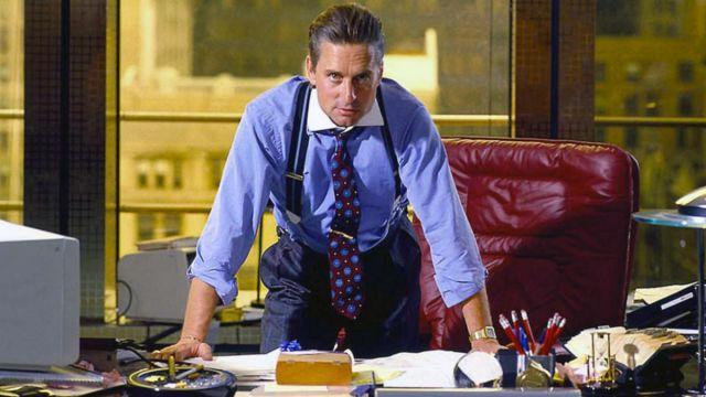 The tie worn by Gordon Gekko (Michael Douglas) in Wall Street