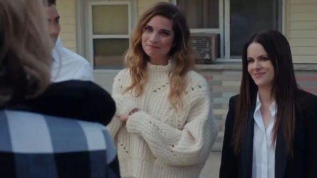 White Knit Sweater worn by Alexis Rose (Annie Murphy) in Schitt's Creek Season 6 Episode 14
