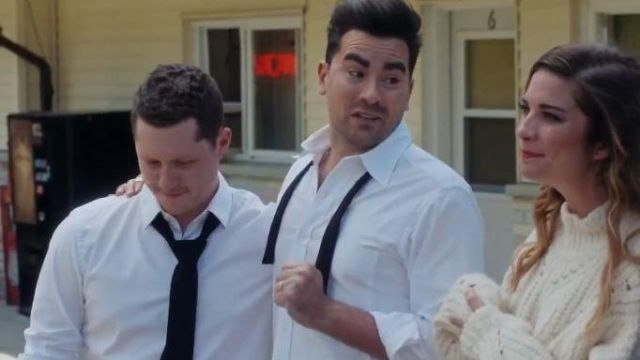 White Button Down Shirt worn by David Rose (Daniel Levy) in Schitt's Creek Season 6 Episode 14