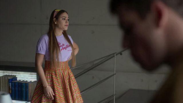La jupe portée par Lu (Danna Paola) dans Élite (S02E03)