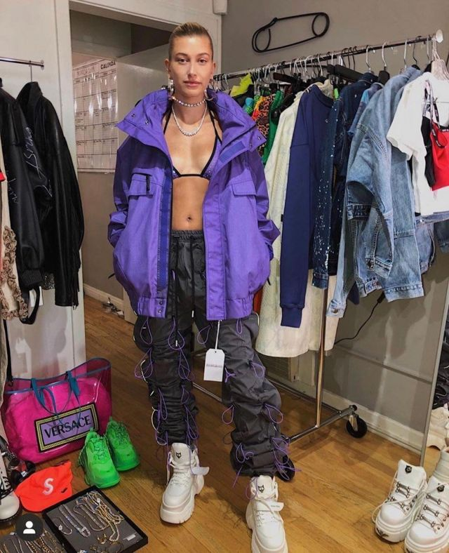 Naked Wolf Scandal Sneakers worn by Hailey Baldwin Maeve Reilly's Instagram April 10, 2020