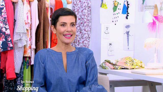 Le top en chambray de Cristina Córdula dans Les reines du shopping