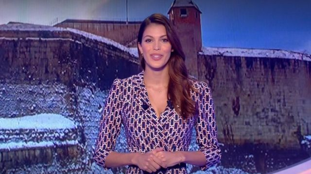 The Printed Dress From Iris Mittenaere In The Loto Draw Of The 07 04 2020 Spotern