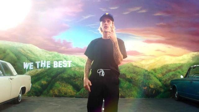 Le t- shirt noir Oversize de Justin Bieber dans le clip No Brainer de DJ Khaled